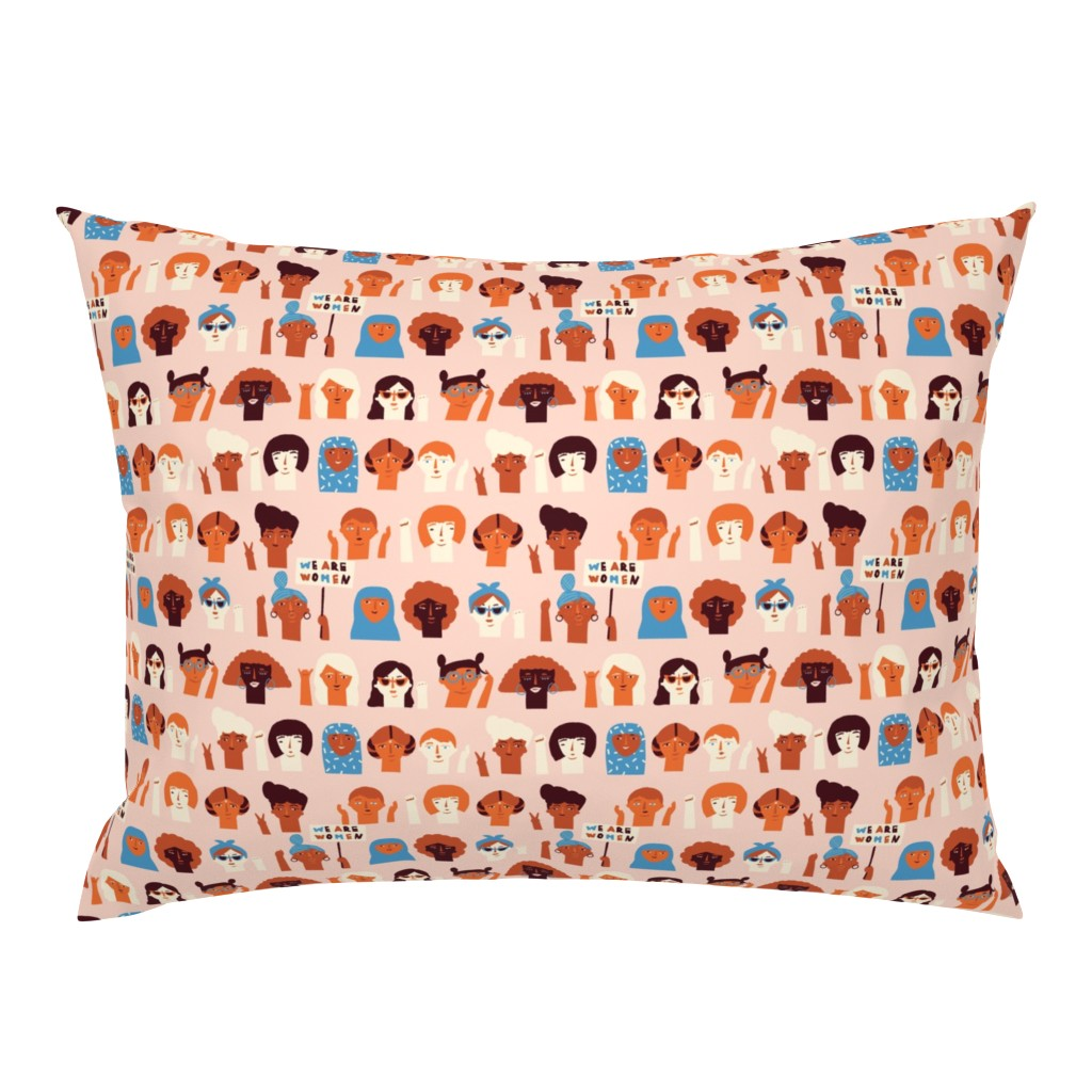 Campine Pillow Sham featuring We are women by tasiania