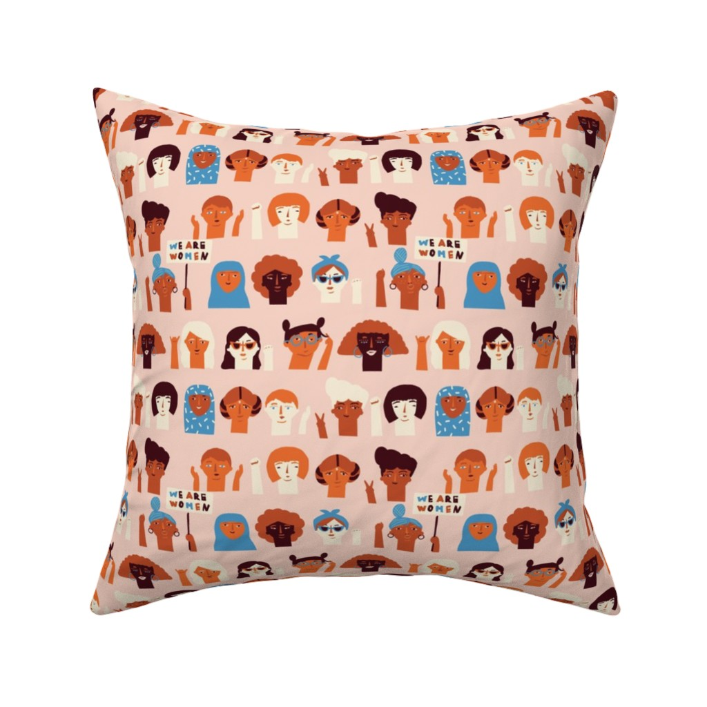 Catalan Throw Pillow featuring We are women by tasiania