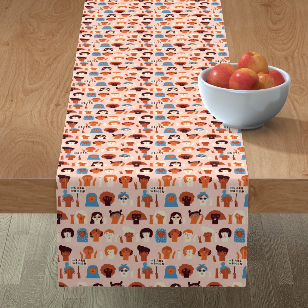 Minorca Table Runner featuring We are women by tasiania