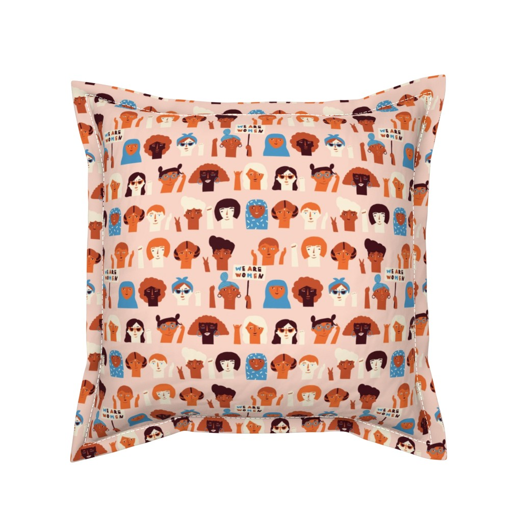 Serama Throw Pillow featuring We are women by tasiania