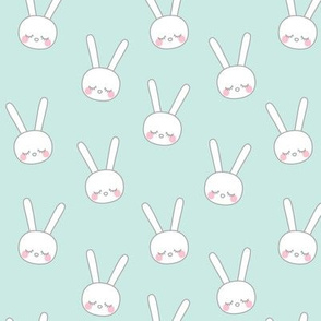 sleepy eyes bunny rabbit grey small blue