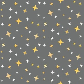 Magical Stars on Gray