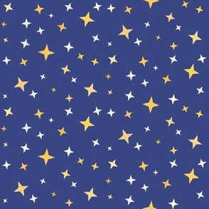 Magical Stars on Blue