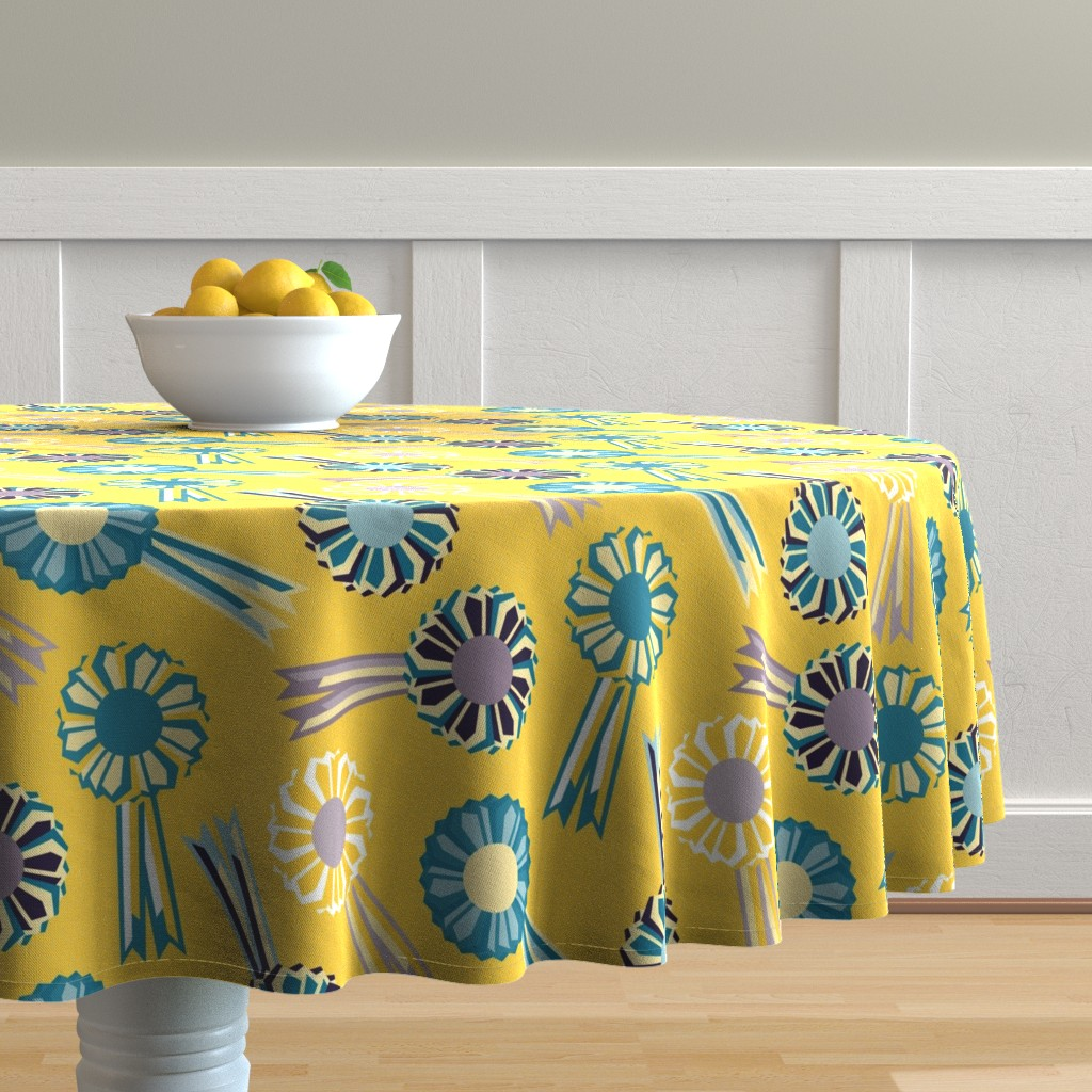 Malay Round Tablecloth featuring Rosette The Table by seesawboomerang