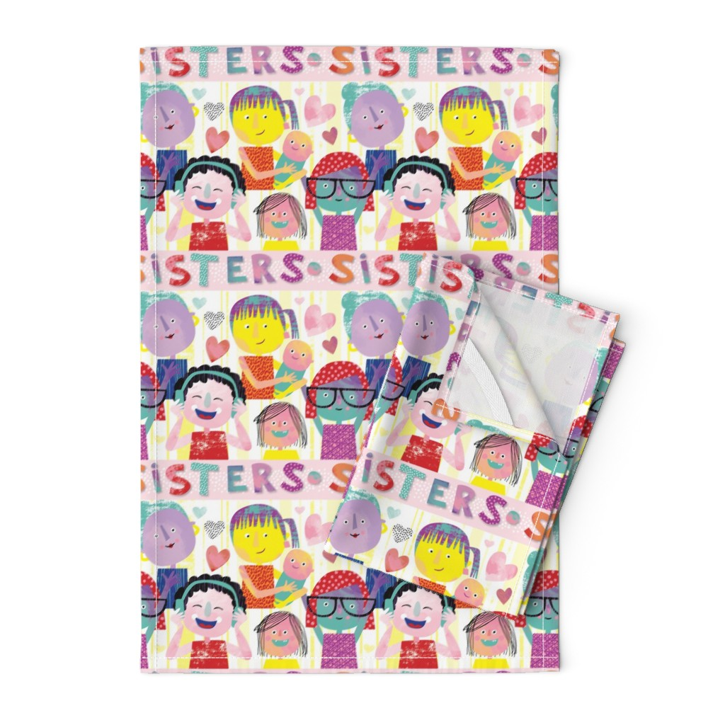 Orpington Tea Towels featuring Sisterhood by Mount Vic and Me by mountvicandme