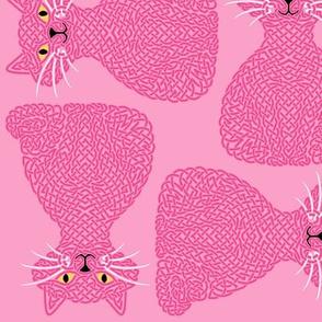 Knotty Cat - pink, big