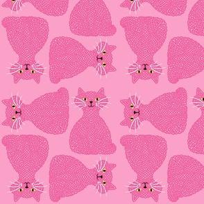 Knotty Cat - pink, small