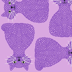 Knotty Cat - purple, big