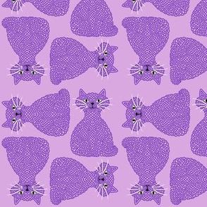 Knotty Cat - purple, small