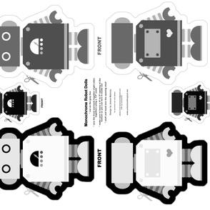 Robot Dolls - Black, White and Grey!