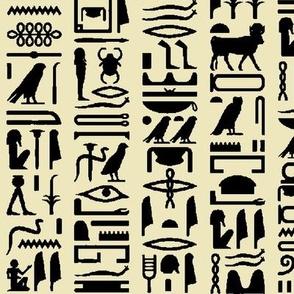 Egyptian Hieroglyphics on Parchment // Large
