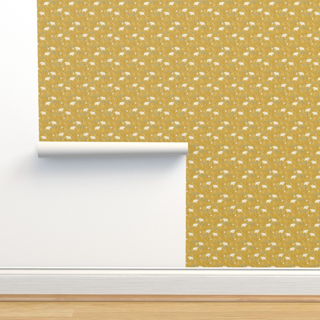 Isobar Durable Wallpaper featuring Foraging - Extra Small Scale by papercanoefabricshop
