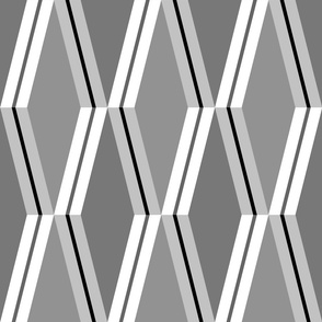 Folded Deco Stripe Silver