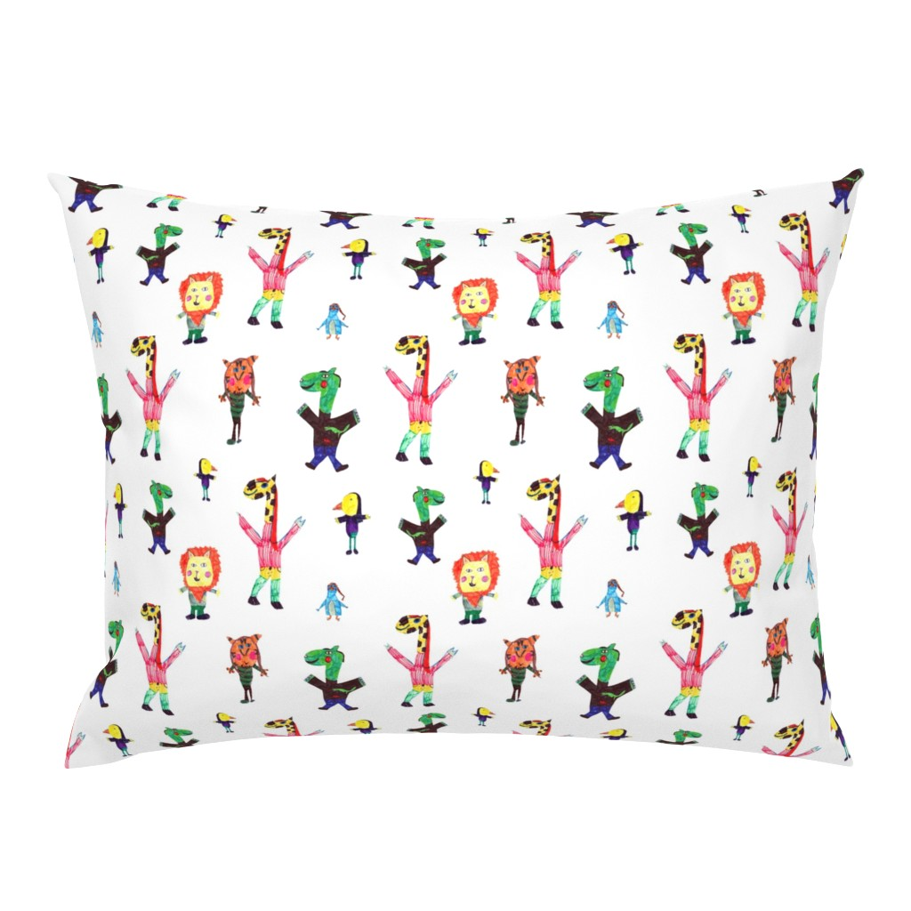 Campine Pillow Sham featuring Lucys animals by lucy_&_me