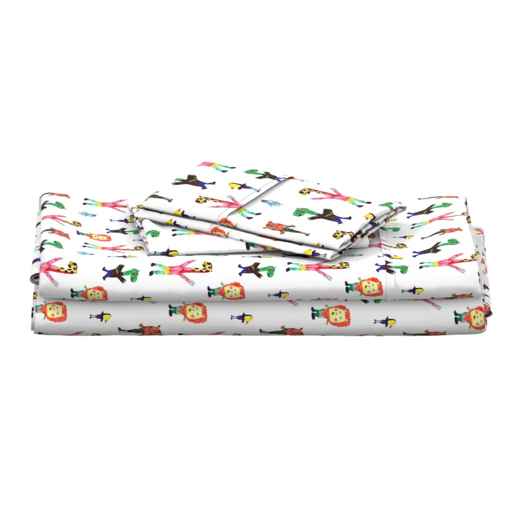Langshan Full Bed Set featuring Lucys animals by lucy_&_me