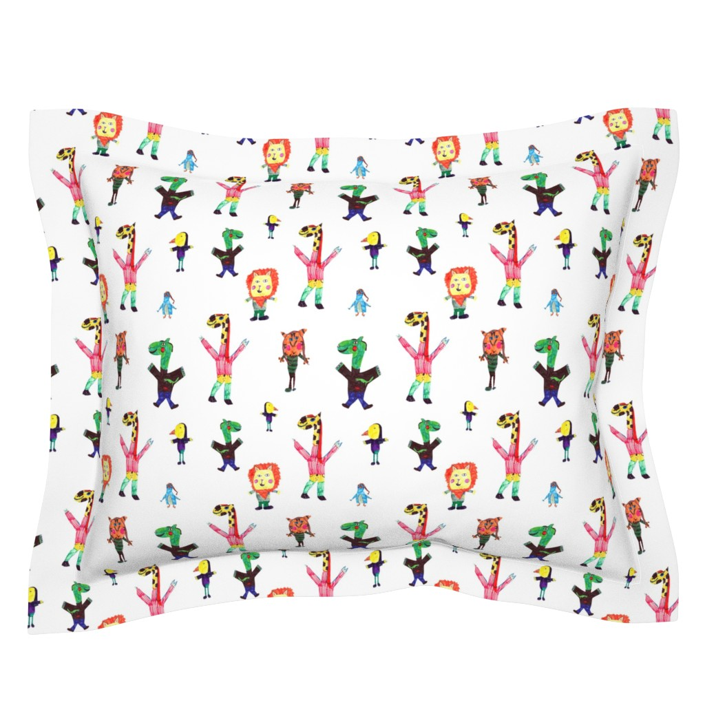 Sebright Pillow Sham featuring Lucys animals by lucy_&_me