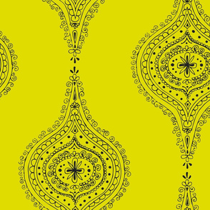 Moroccan Chartreuse and Black
