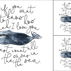 1 blanket + 2 loveys: whale // if you want to know how much I love you