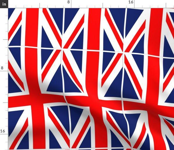 Stoff Meterware London Union Jack England Großbritannien Union