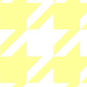 18-04A Jumbo Butter Yellow White Houndstooth