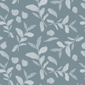 18-08J Gray Blue Floral