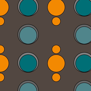 Art Deco stripe of Dots & Circles