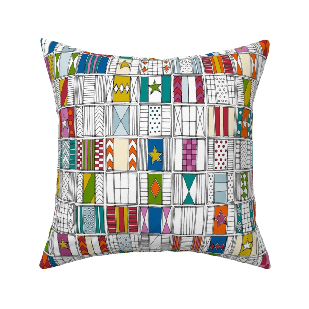 Catalan Throw Pillow featuring racing silks by scrummy