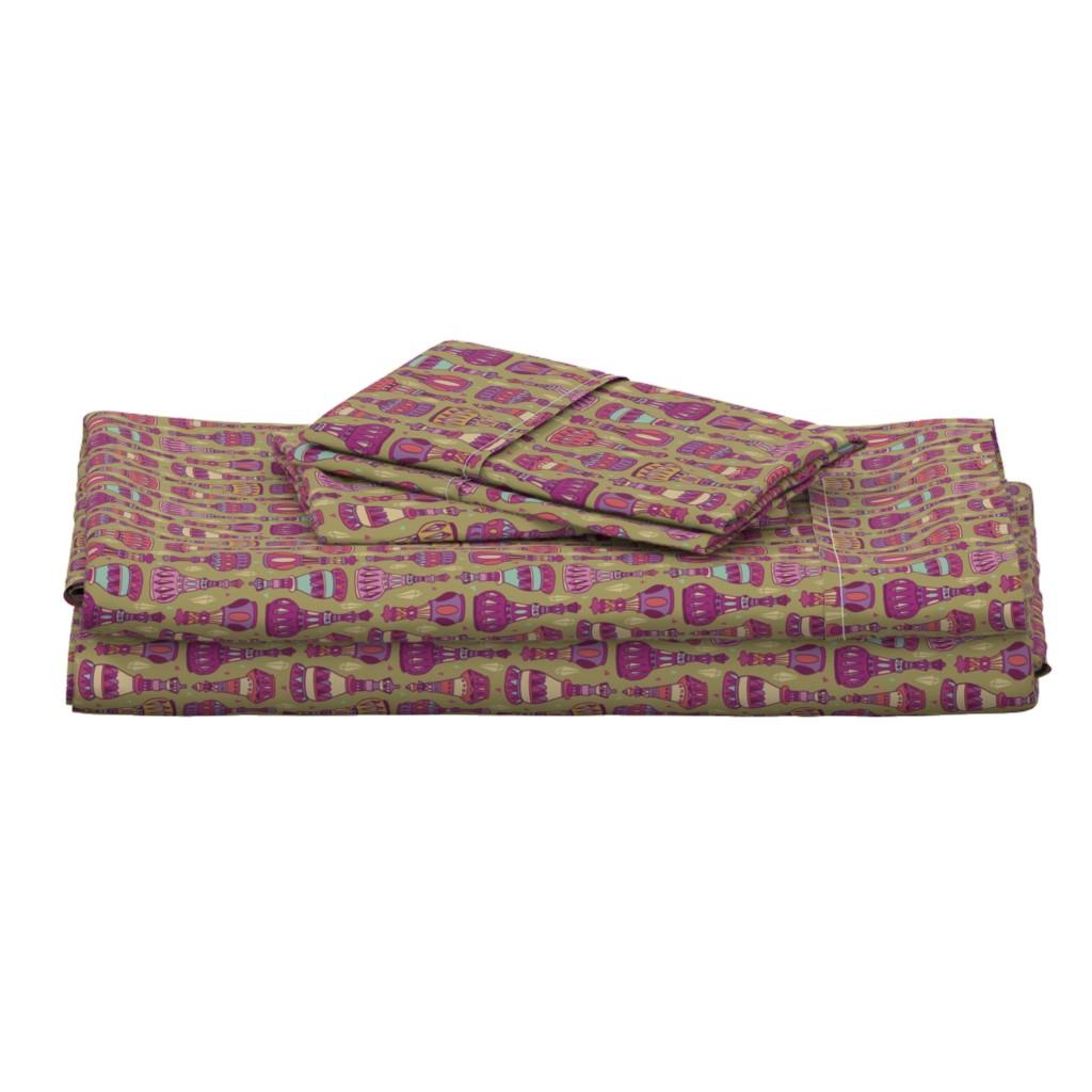 Langshan Full Bed Set featuring Magic Bottles by leiah