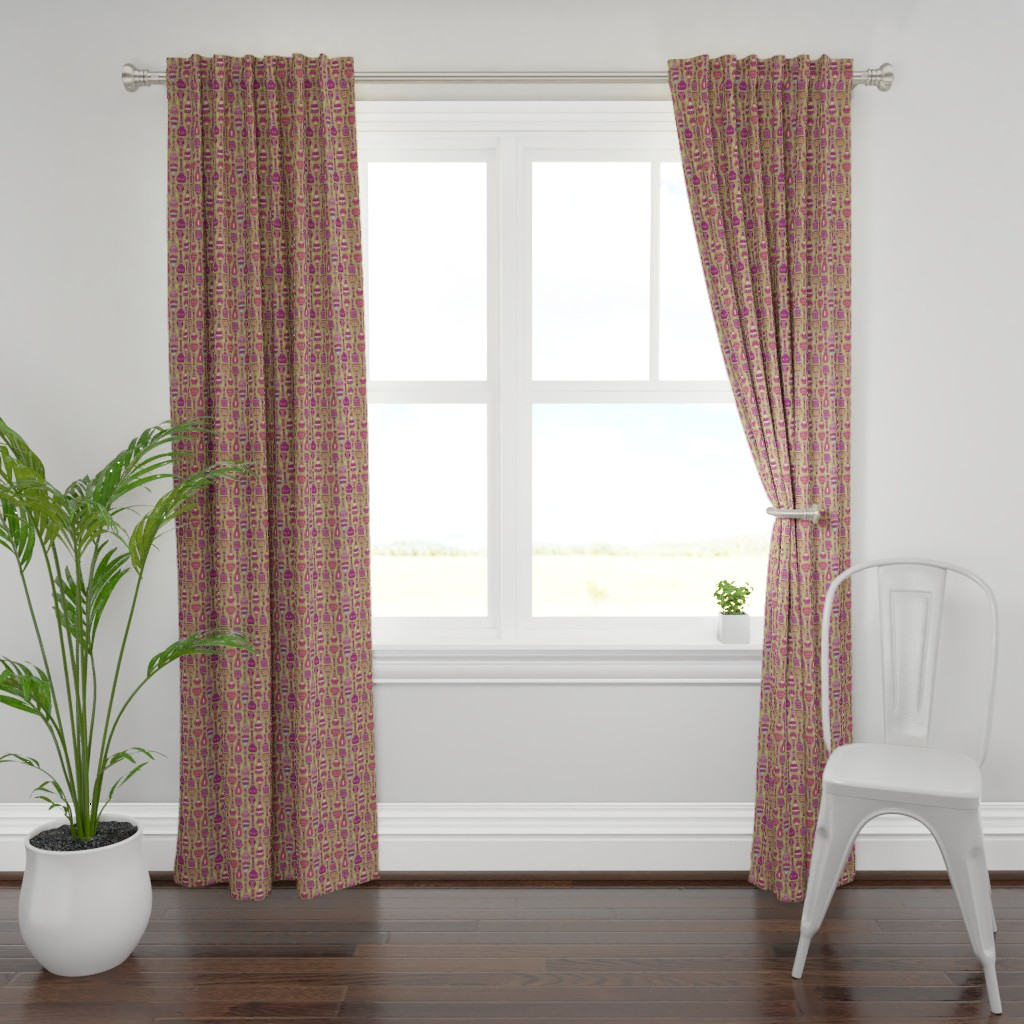 Plymouth Curtain Panel featuring Magic Bottles by leiah