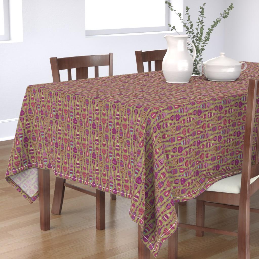 Bantam Rectangular Tablecloth featuring Magic Bottles by leiah