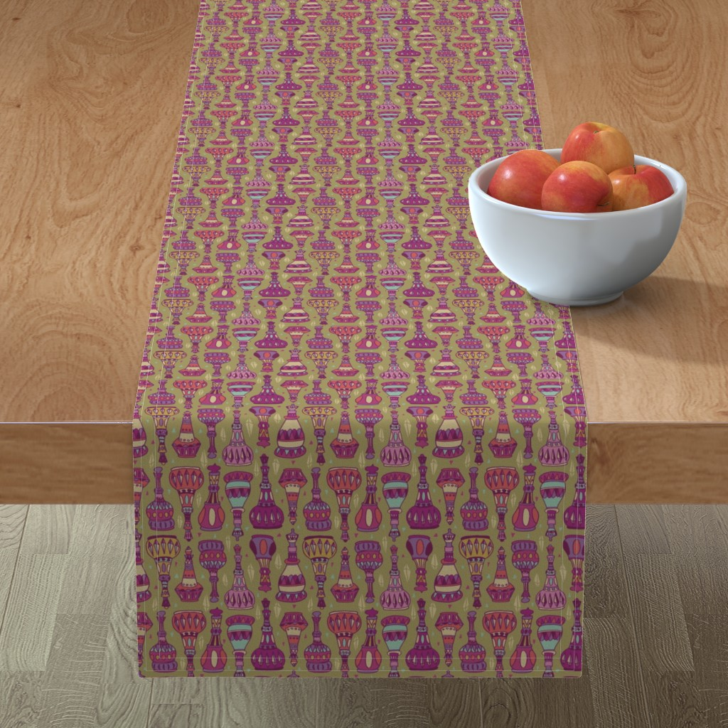 Minorca Table Runner featuring Magic Bottles by leiah
