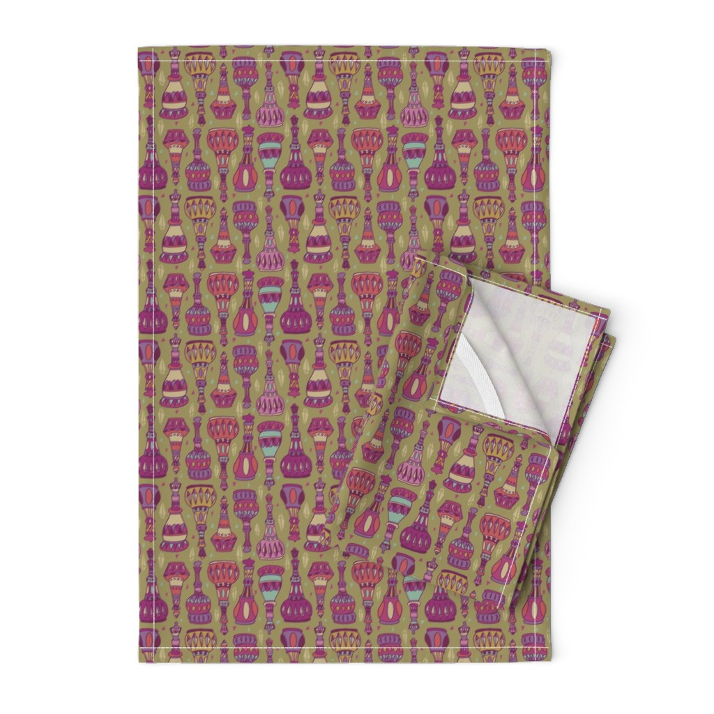 Orpington Tea Towels featuring Magic Bottles by leiah