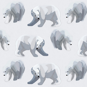 Glacier Bears - Charcoal [Medium Scale]