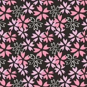 Sakura - Black and Pink