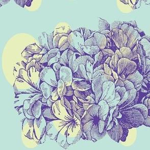 Dotty Hydrangea (lime & sea glass)