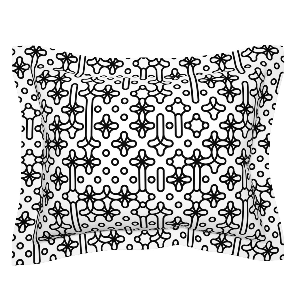 Sebright Pillow Sham featuring Set 01/0021 by contrast