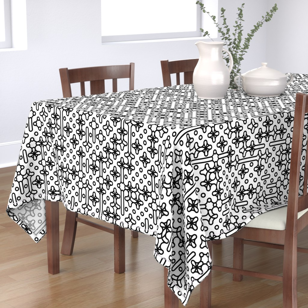 Bantam Rectangular Tablecloth featuring Set 01/0021 by contrast
