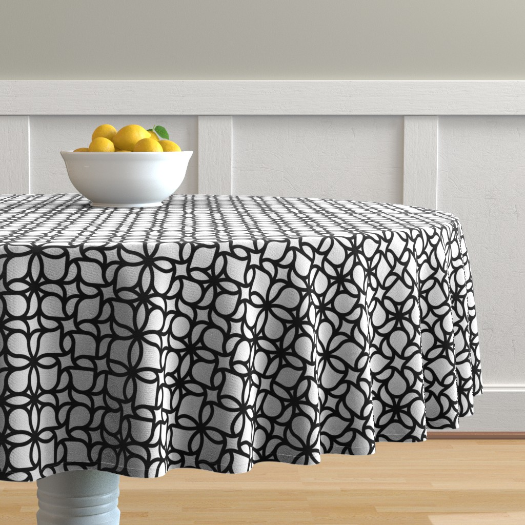 Malay Round Tablecloth featuring Set 01/0023 by contrast