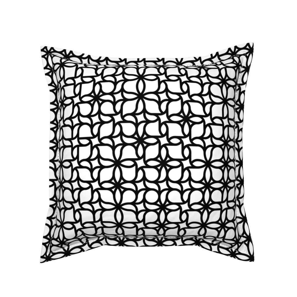 Serama Throw Pillow featuring Set 01/0023 by contrast