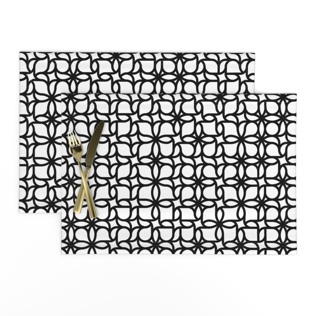 Lamona Cloth Placemats featuring Set 01/0023 by contrast