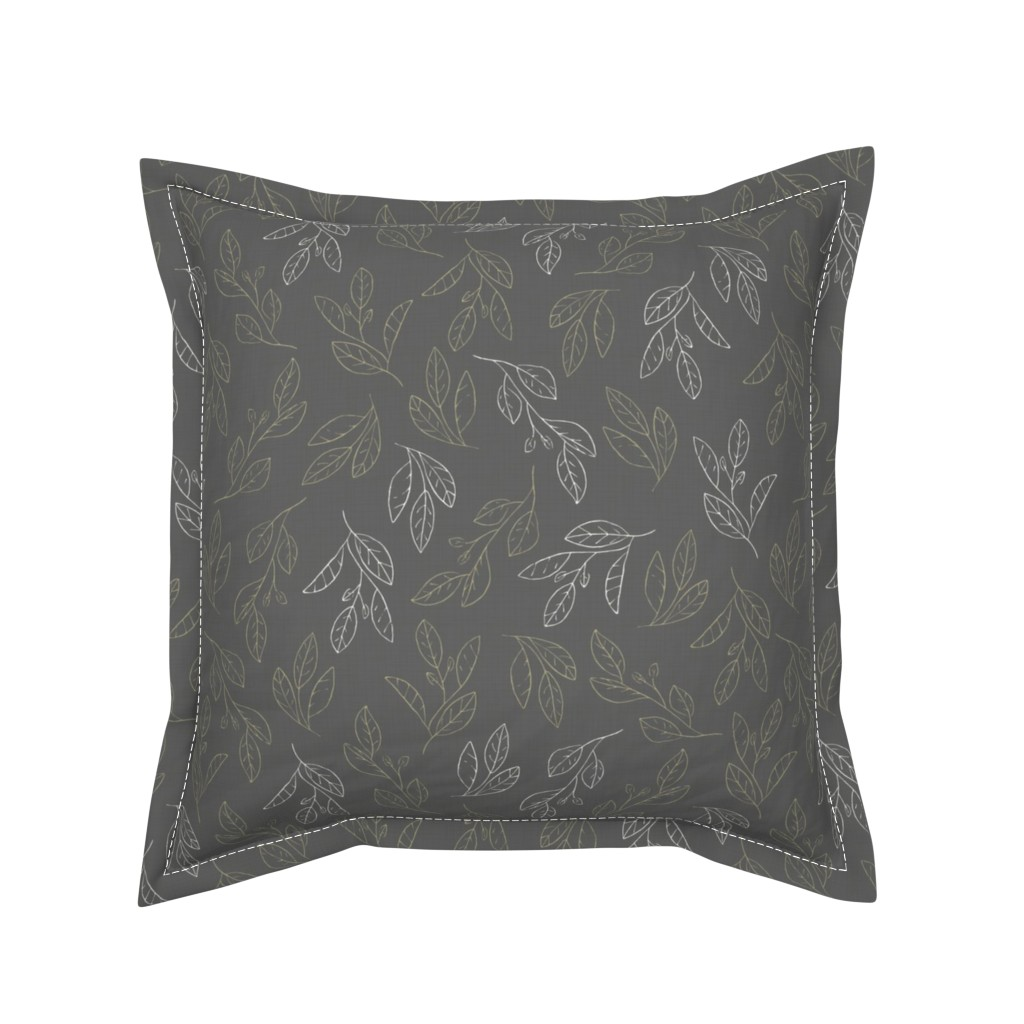 Serama Throw Pillow featuring Falling Flora by papercanoefabricshop