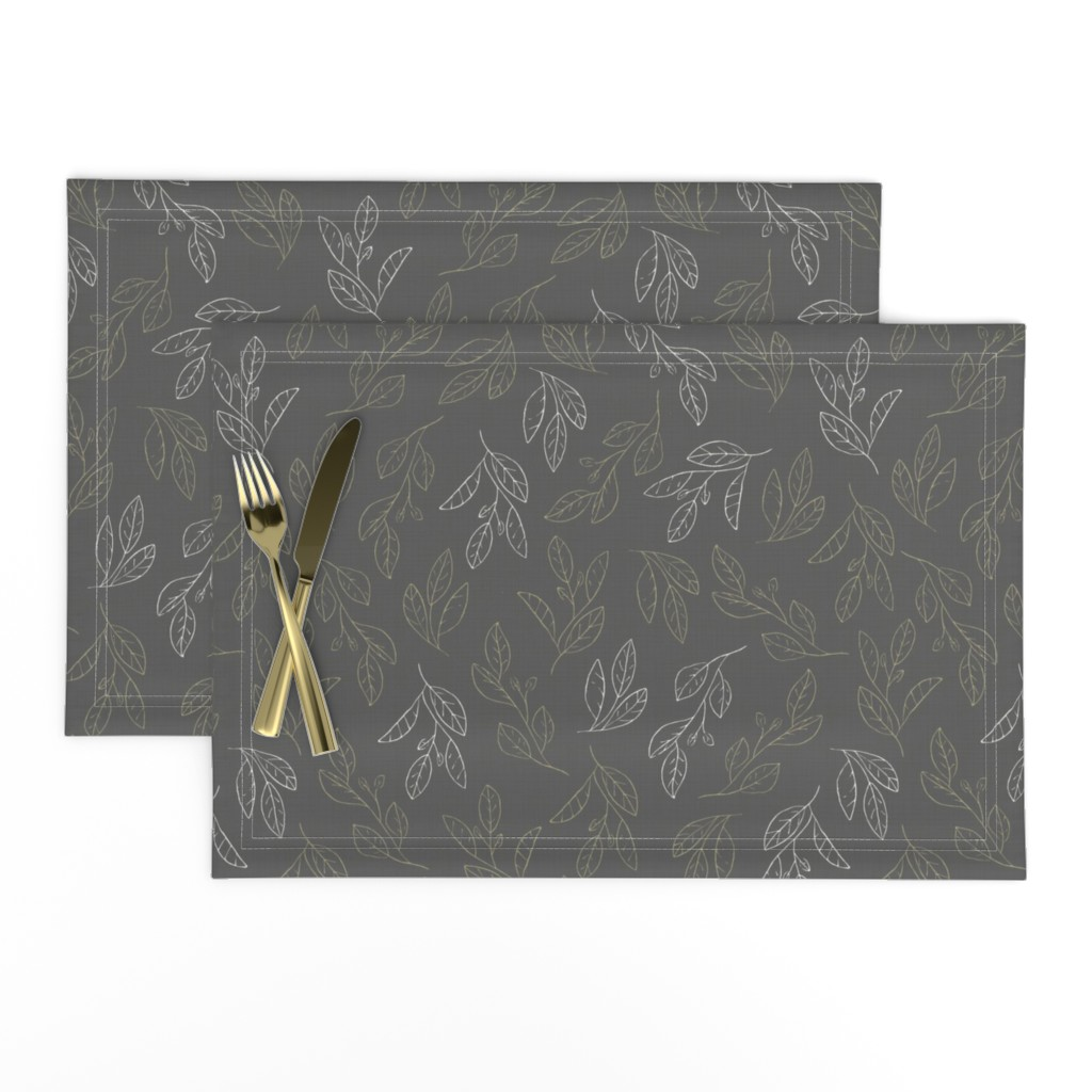 Lamona Cloth Placemats featuring Falling Flora by papercanoefabricshop
