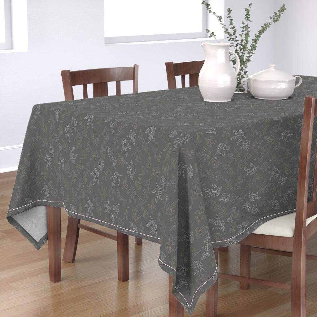 Bantam Rectangular Tablecloth featuring Falling Flora by papercanoefabricshop