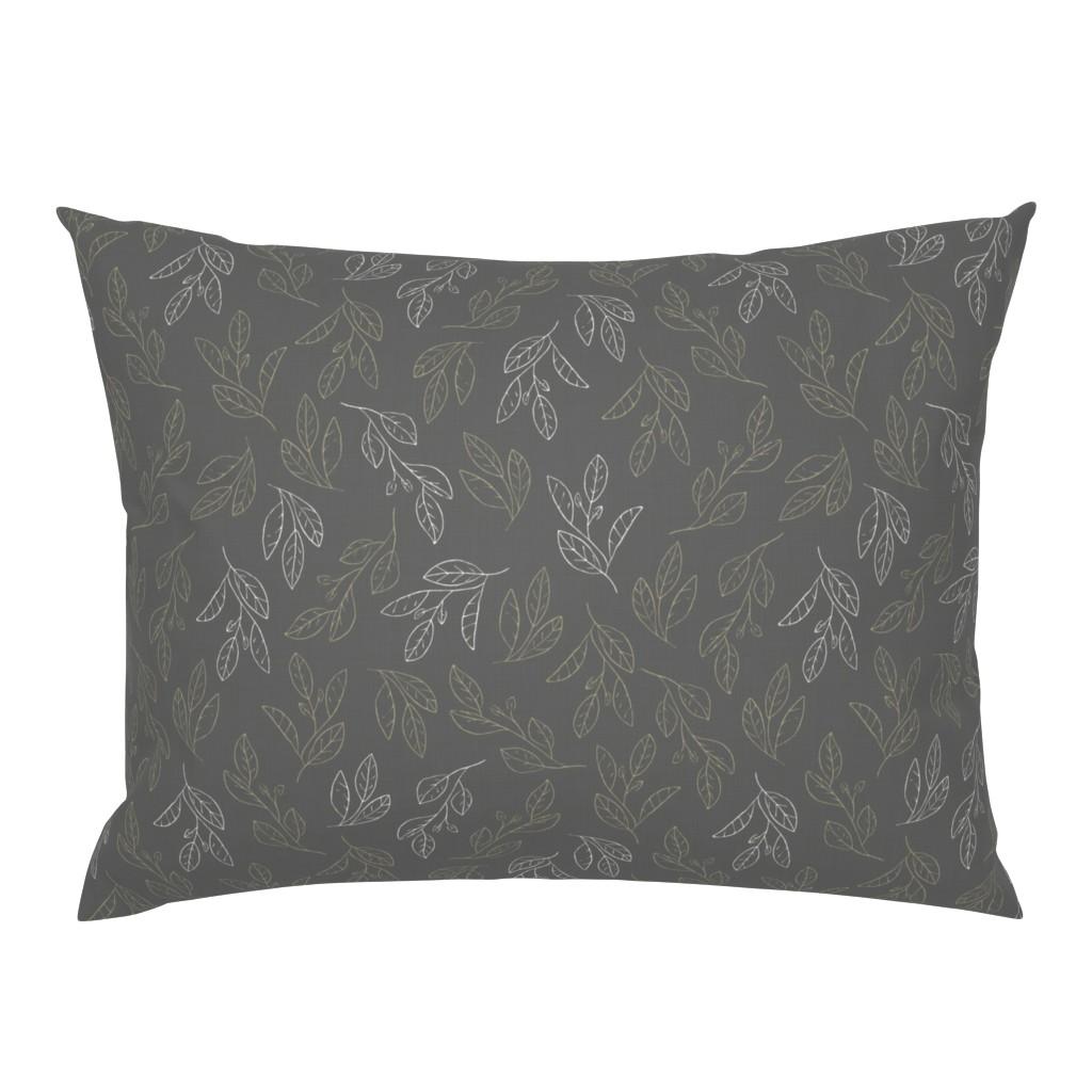 Campine Pillow Sham featuring Falling Flora by papercanoefabricshop