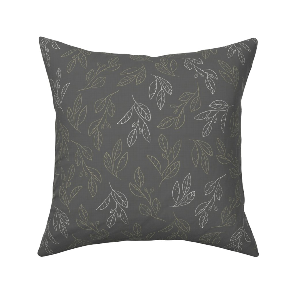 Catalan Throw Pillow featuring Falling Flora by papercanoefabricshop