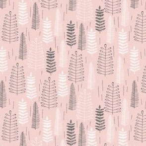 Pink Ferns - Extra Small Scale