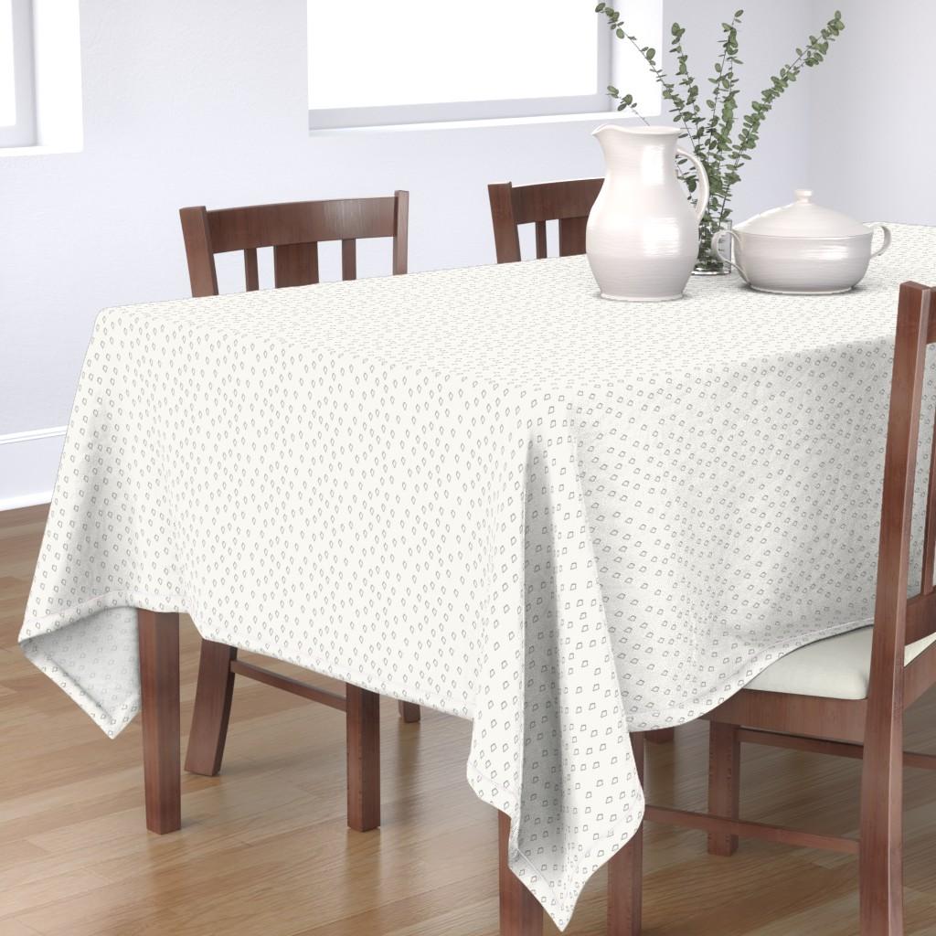 Bantam Rectangular Tablecloth featuring Diamonds by papercanoefabricshop