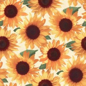 Big Happy Orange Sunflowers