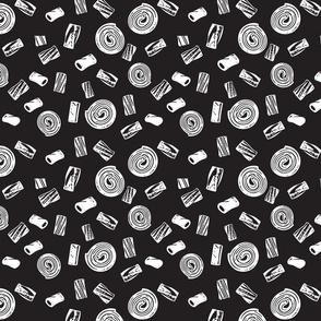 Licorice1 - white on black background