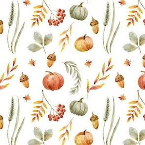 """8"""" Autumn Press // White"""